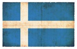 Bandera del Grunge de las Islas Shetland Gran Bretaña Foto de archivo libre de regalías