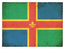 Bandera del Grunge de Lincolnshire Gran Bretaña Fotos de archivo