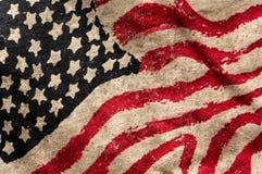Bandera del grunge de los E.E.U.U. Imágenes de archivo libres de regalías