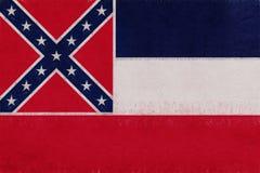 Bandera del Grunge de Mississippi ilustración del vector