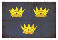 Bandera del Grunge de Munster Irlanda Foto de archivo libre de regalías