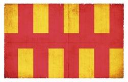 Bandera del Grunge de Northumberland Gran Bretaña Foto de archivo