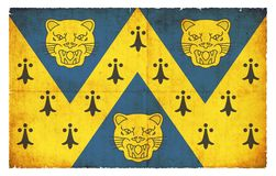 Bandera del Grunge de Shropshire Gran Bretaña Imagen de archivo libre de regalías
