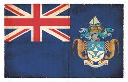 Bandera del Grunge de Tristan da Cunha Great Britain Fotografía de archivo libre de regalías