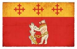 Bandera del Grunge de Warwickshire Gran Bretaña Foto de archivo libre de regalías