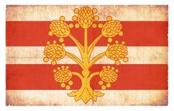 Bandera del Grunge de Westmorland Gran Bretaña Imagenes de archivo