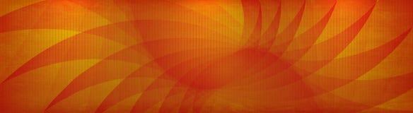 bandera del grunge del amarillo anaranjado del vector Imagen de archivo libre de regalías