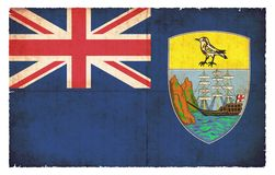 Bandera del Grunge del santo Helena Great Britain libre illustration