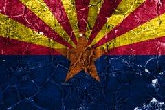 Bandera del grunge del estado de Arizona, los Estados Unidos de América libre illustration