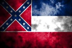 Bandera del grunge del estado de Mississippi, los Estados Unidos de América libre illustration
