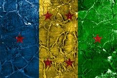 Bandera del grunge del reino de Ogoni, bandera dependiente del territorio fotografía de archivo libre de regalías