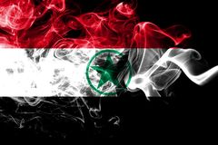 Bandera del humo de Arabistan, bandera dependiente del territorio de Irán foto de archivo