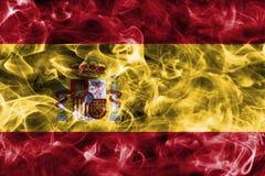 Bandera del humo de España con un fondo negro