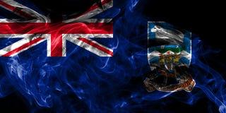Bandera del humo de Falkland Islands, territorios de ultramar brit?nicos, bandera dependiente del territorio de Gran Breta?a stock de ilustración