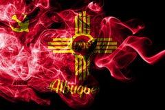 Bandera del humo de la ciudad de Albuquerque, estado de New México, los Estados Unidos de América ilustración del vector
