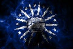Bandera del humo de la ciudad del búfalo, Estado de Nueva York, Estados Unidos de Americ imagen de archivo