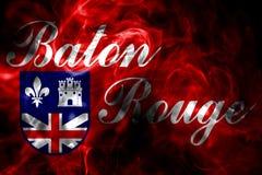 Bandera del humo de la ciudad de Baton Rouge, estado de Luisiana, Estados Unidos de A libre illustration