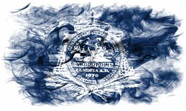 Bandera del humo de la ciudad de Charleston, Carolina State del sur, Estados Unidos Imagen de archivo