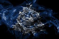 Bandera del humo de la ciudad de Charleston, Carolina State del sur, los Estados Unidos de Am?rica stock de ilustración