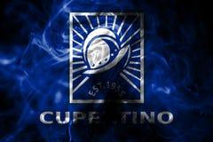 Bandera del humo de la ciudad de Cupertino, estado de California, Estados Unidos de la  ilustración del vector