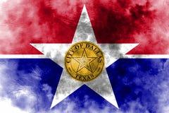 Bandera del humo de la ciudad de Dallas, estado de Illinois, los Estados Unidos de América ilustración del vector