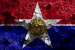 Bandera del humo de la ciudad de Dallas, estado de Illinois, los Estados Unidos de América libre illustration