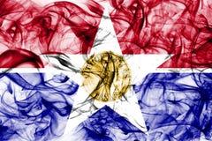 Bandera del humo de la ciudad de Dallas, estado de Illinois, los Estados Unidos de América Imagen de archivo libre de regalías