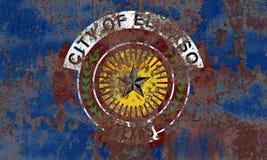 Bandera del humo de la ciudad de El Paso, Texas State, los Estados Unidos de América imágenes de archivo libres de regalías