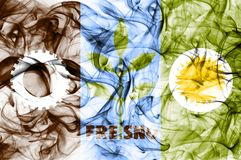 Bandera del humo de la ciudad de Fresno, estado de California, los Estados Unidos de América libre illustration