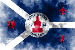 Bandera del humo de la ciudad de fuerte Wayne, Indiana State, Estados Unidos de Amer ilustración del vector