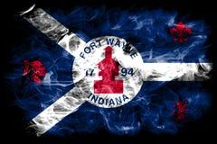 Bandera del humo de la ciudad de fuerte Wayne, Indiana State, Estados Unidos de Amer Foto de archivo libre de regalías