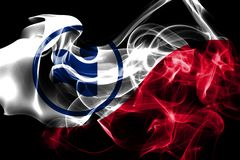 Bandera del humo de la ciudad de Irving, Texas State, los Estados Unidos de América libre illustration
