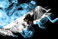 Bandera del humo de la ciudad de Madison, estado de Wisconsin, los Estados Unidos de América libre illustration