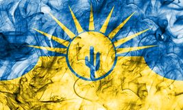Bandera del humo de la ciudad del Mesa, estado de Arizona, los Estados Unidos de América Imágenes de archivo libres de regalías