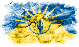 Bandera del humo de la ciudad del Mesa, estado de Arizona, los Estados Unidos de América Foto de archivo libre de regalías