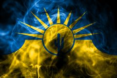 Bandera del humo de la ciudad del Mesa, estado de Arizona, los Estados Unidos de América ilustración del vector
