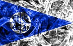 Bandera del humo de la ciudad de Minneapolis, estado de Minnesota, Estados Unidos de A Imagen de archivo libre de regalías