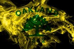 Bandera del humo de la ciudad de Oakland, estado de California, los Estados Unidos de Am?rica ilustración del vector