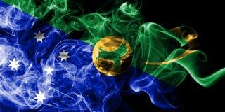 Bandera del humo de la Isla de Navidad, bandera dependiente del territorio de Australia foto de archivo