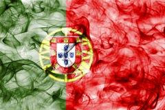 Bandera del humo de Portugal aislada en un fondo blanco Imágenes de archivo libres de regalías