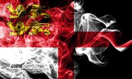 Bandera del humo de Sark, bandera dependiente del territorio de Reino Unido foto de archivo