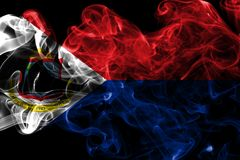 Bandera del humo de Sint Maarten, bandera dependiente holandesa del territorio fotografía de archivo