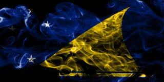 Bandera del humo de Tokelau, nueva bandera dependiente del territorio de Zaeland fotografía de archivo
