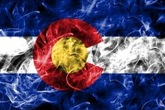 Bandera del humo del estado de Colorado, los Estados Unidos de América fotografía de archivo libre de regalías