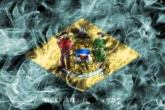 Bandera del humo del estado de Delaware, los Estados Unidos de América fotografía de archivo