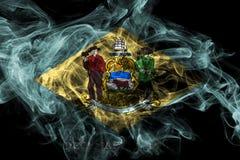 Bandera del humo del estado de Delaware, los Estados Unidos de Am?rica ilustración del vector