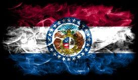 Bandera del humo del estado de Missouri, los Estados Unidos de América imagen de archivo libre de regalías