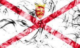 Bandera del humo del jersey, bandera dependiente del territorio de Reino Unido imagenes de archivo