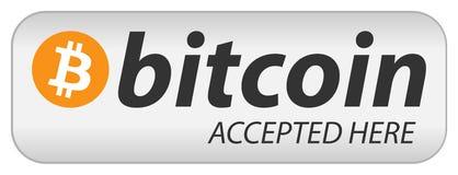 Bandera del icono de Bitcoin Imagen de archivo