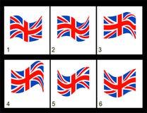 Bandera del inglés de la animación Imagen de archivo libre de regalías